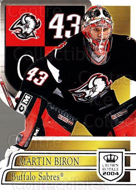 2003-04 Crown Royale Retail #10 Martin Biron<br/>5 In Stock - $1.00 each - <a href=https://centericecollectibles.foxycart.com/cart?name=2003-04%20Crown%20Royale%20Retail%20%2310%20Martin%20Biron...&quantity_max=5&price=$1.00&code=112367 class=foxycart> Buy it now! </a>