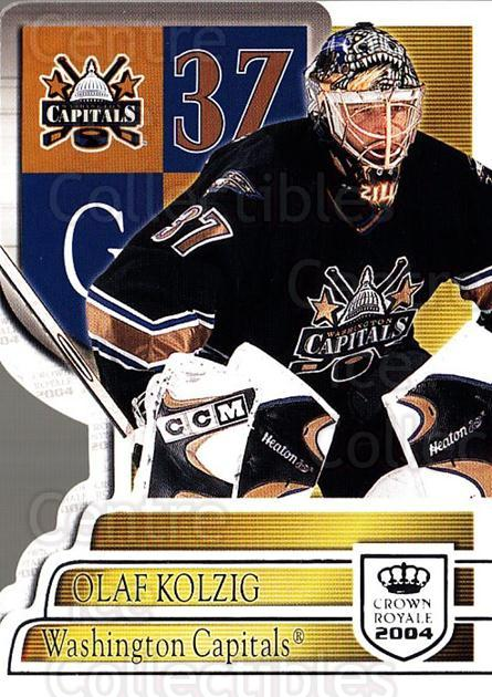 2003-04 Crown Royale Retail #100 Olaf Kolzig<br/>6 In Stock - $1.00 each - <a href=https://centericecollectibles.foxycart.com/cart?name=2003-04%20Crown%20Royale%20Retail%20%23100%20Olaf%20Kolzig...&quantity_max=6&price=$1.00&code=112368 class=foxycart> Buy it now! </a>