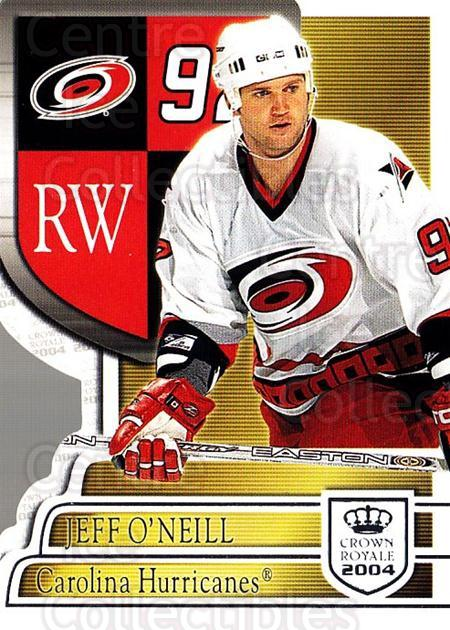 2003-04 Crown Royale Retail #17 Jeff O'Neill<br/>6 In Stock - $1.00 each - <a href=https://centericecollectibles.foxycart.com/cart?name=2003-04%20Crown%20Royale%20Retail%20%2317%20Jeff%20O'Neill...&quantity_max=6&price=$1.00&code=112391 class=foxycart> Buy it now! </a>