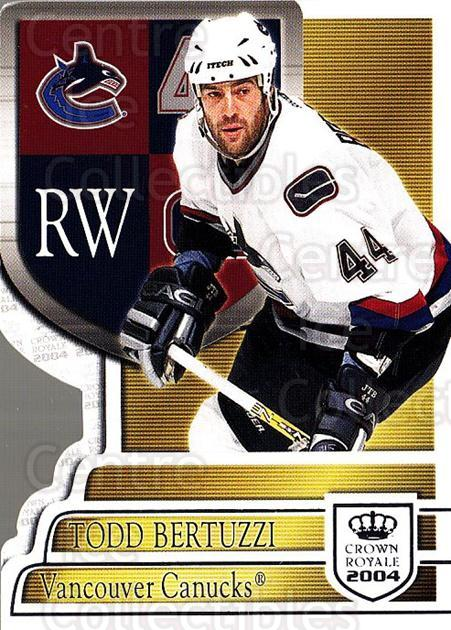 2003-04 Crown Royale Retail #96 Todd Bertuzzi<br/>5 In Stock - $1.00 each - <a href=https://centericecollectibles.foxycart.com/cart?name=2003-04%20Crown%20Royale%20Retail%20%2396%20Todd%20Bertuzzi...&quantity_max=5&price=$1.00&code=112454 class=foxycart> Buy it now! </a>