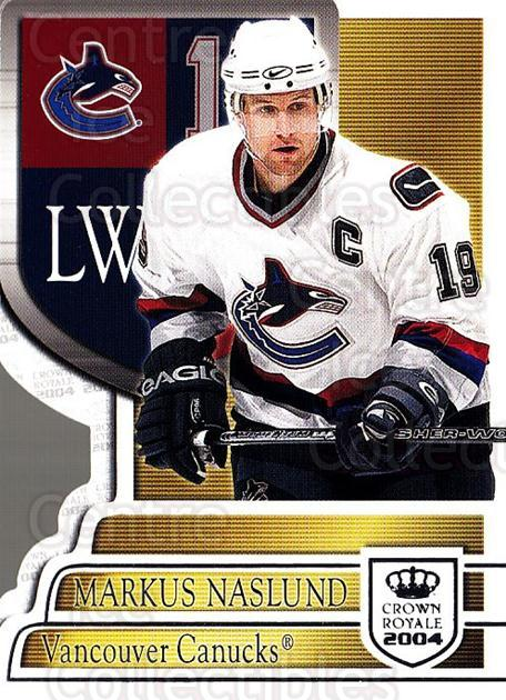 2003-04 Crown Royale Retail #98 Markus Naslund<br/>4 In Stock - $1.00 each - <a href=https://centericecollectibles.foxycart.com/cart?name=2003-04%20Crown%20Royale%20Retail%20%2398%20Markus%20Naslund...&quantity_max=4&price=$1.00&code=112455 class=foxycart> Buy it now! </a>