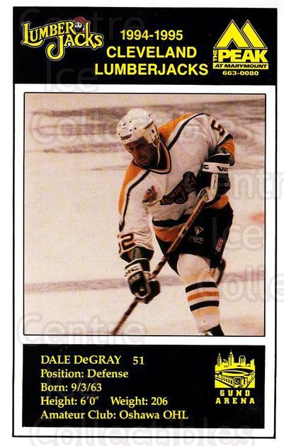 1994-95 Cleveland Lumberjacks Postcards #6 Dale DeGray<br/>3 In Stock - $3.00 each - <a href=https://centericecollectibles.foxycart.com/cart?name=1994-95%20Cleveland%20Lumberjacks%20Postcards%20%236%20Dale%20DeGray...&quantity_max=3&price=$3.00&code=1124 class=foxycart> Buy it now! </a>