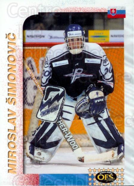 2003-04 Czech OFS AS Game #1 Miroslav Simonovic<br/>3 In Stock - $2.00 each - <a href=https://centericecollectibles.foxycart.com/cart?name=2003-04%20Czech%20OFS%20AS%20Game%20%231%20Miroslav%20Simono...&price=$2.00&code=112529 class=foxycart> Buy it now! </a>