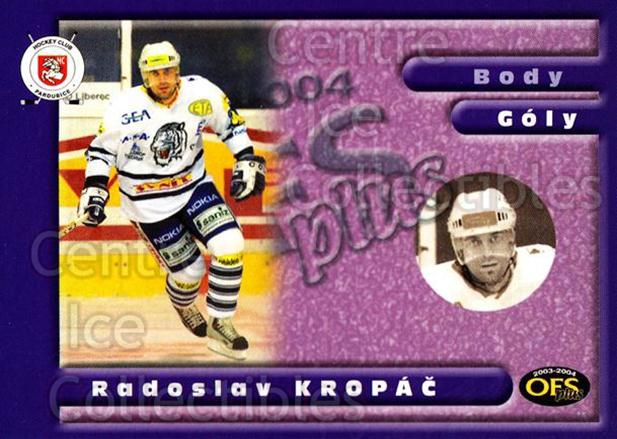 2003-04 Czech OFS Goals Leaders #3 Radoslav Kropac<br/>3 In Stock - $2.00 each - <a href=https://centericecollectibles.foxycart.com/cart?name=2003-04%20Czech%20OFS%20Goals%20Leaders%20%233%20Radoslav%20Kropac...&quantity_max=3&price=$2.00&code=112561 class=foxycart> Buy it now! </a>