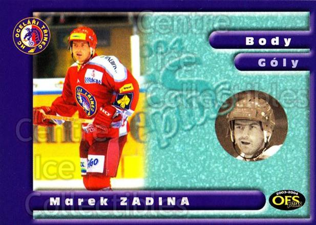 2003-04 Czech OFS Points Leaders #7 Marek Zadina<br/>2 In Stock - $2.00 each - <a href=https://centericecollectibles.foxycart.com/cart?name=2003-04%20Czech%20OFS%20Points%20Leaders%20%237%20Marek%20Zadina...&quantity_max=2&price=$2.00&code=112596 class=foxycart> Buy it now! </a>
