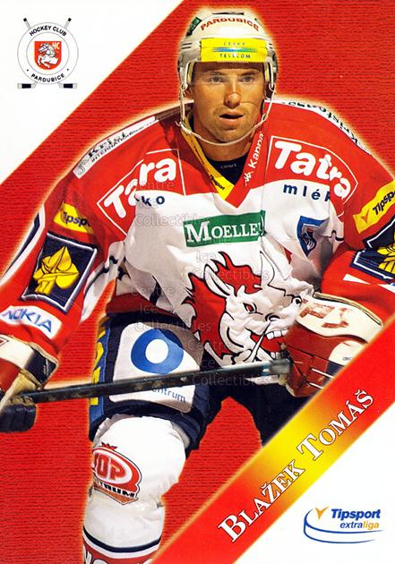 2003-04 Czech HC Pardubice Postcards #3 Tomas Blazek<br/>4 In Stock - $3.00 each - <a href=https://centericecollectibles.foxycart.com/cart?name=2003-04%20Czech%20HC%20Pardubice%20Postcards%20%233%20Tomas%20Blazek...&quantity_max=4&price=$3.00&code=112800 class=foxycart> Buy it now! </a>