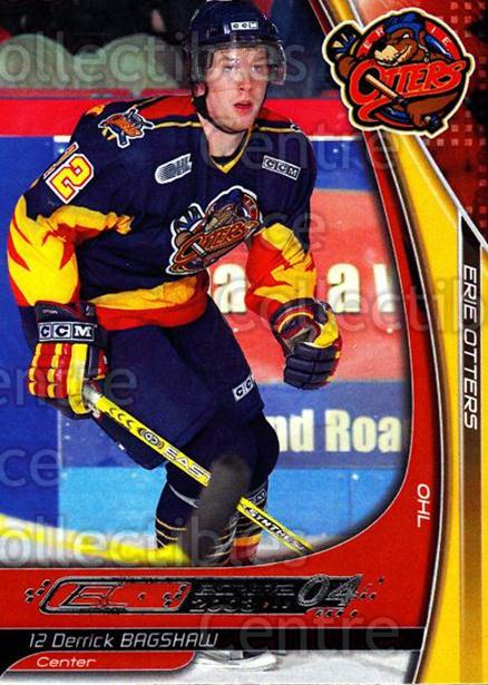 2003-04 Erie Otters #1 Derrick Bagshaw<br/>3 In Stock - $3.00 each - <a href=https://centericecollectibles.foxycart.com/cart?name=2003-04%20Erie%20Otters%20%231%20Derrick%20Bagshaw...&quantity_max=3&price=$3.00&code=112826 class=foxycart> Buy it now! </a>