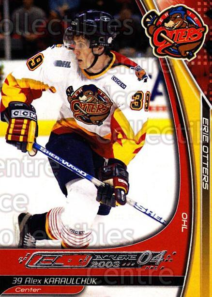 2003-04 Erie Otters #12 Alex Karaulchuk<br/>2 In Stock - $3.00 each - <a href=https://centericecollectibles.foxycart.com/cart?name=2003-04%20Erie%20Otters%20%2312%20Alex%20Karaulchuk...&price=$3.00&code=112827 class=foxycart> Buy it now! </a>