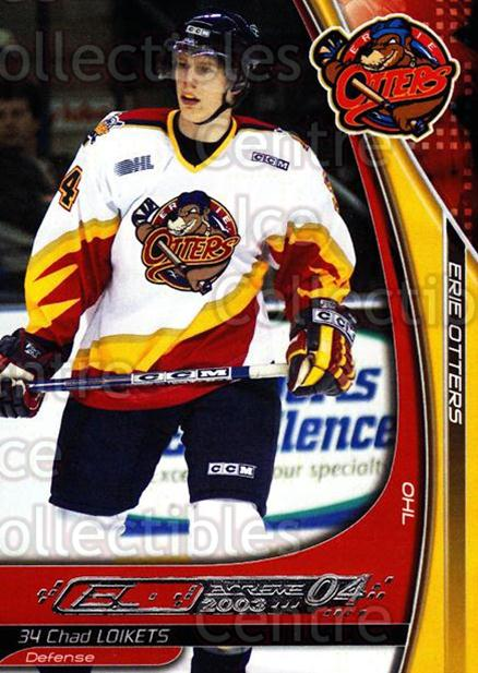 2003-04 Erie Otters #14 Chad Loikets<br/>3 In Stock - $3.00 each - <a href=https://centericecollectibles.foxycart.com/cart?name=2003-04%20Erie%20Otters%20%2314%20Chad%20Loikets...&price=$3.00&code=112828 class=foxycart> Buy it now! </a>