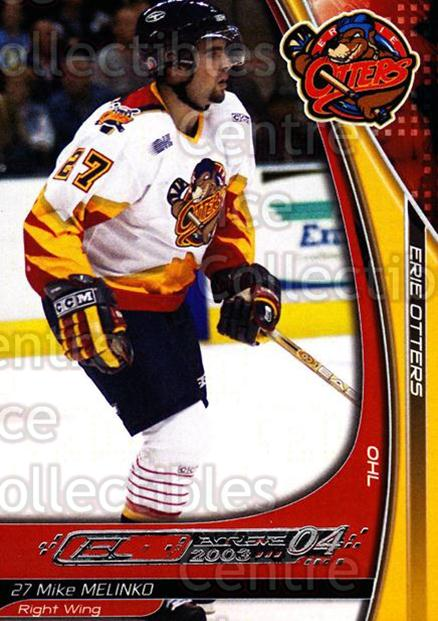 2003-04 Erie Otters #16 Mike Melinko<br/>3 In Stock - $3.00 each - <a href=https://centericecollectibles.foxycart.com/cart?name=2003-04%20Erie%20Otters%20%2316%20Mike%20Melinko...&price=$3.00&code=112830 class=foxycart> Buy it now! </a>
