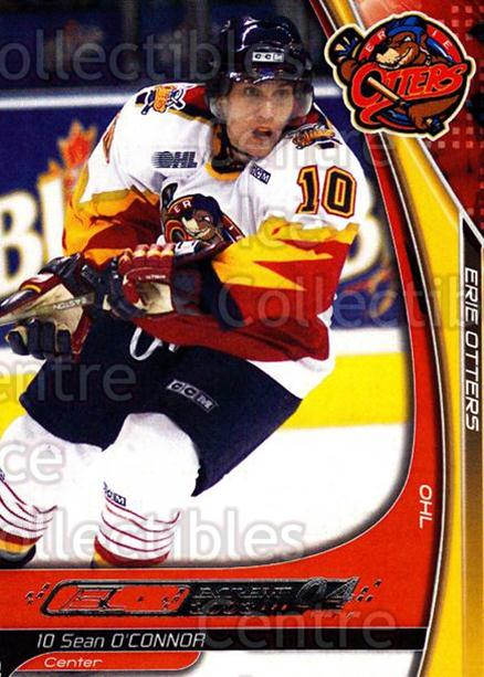 2003-04 Erie Otters #18 Sean O'Connor<br/>2 In Stock - $3.00 each - <a href=https://centericecollectibles.foxycart.com/cart?name=2003-04%20Erie%20Otters%20%2318%20Sean%20O'Connor...&price=$3.00&code=112832 class=foxycart> Buy it now! </a>