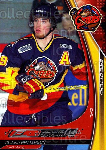 2003-04 Erie Otters #20 Josh Patterson<br/>3 In Stock - $3.00 each - <a href=https://centericecollectibles.foxycart.com/cart?name=2003-04%20Erie%20Otters%20%2320%20Josh%20Patterson...&price=$3.00&code=112833 class=foxycart> Buy it now! </a>