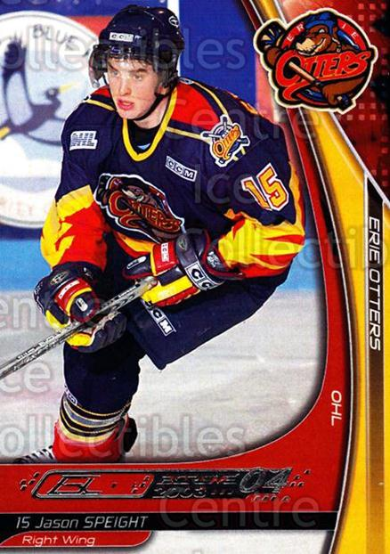 2003-04 Erie Otters #24 Jason Speight<br/>3 In Stock - $3.00 each - <a href=https://centericecollectibles.foxycart.com/cart?name=2003-04%20Erie%20Otters%20%2324%20Jason%20Speight...&price=$3.00&code=112836 class=foxycart> Buy it now! </a>