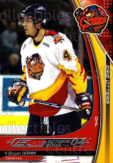 2003-04 Erie Otters #8 Bryan Hamm<br/>3 In Stock - $3.00 each - <a href=https://centericecollectibles.foxycart.com/cart?name=2003-04%20Erie%20Otters%20%238%20Bryan%20Hamm...&price=$3.00&code=112839 class=foxycart> Buy it now! </a>