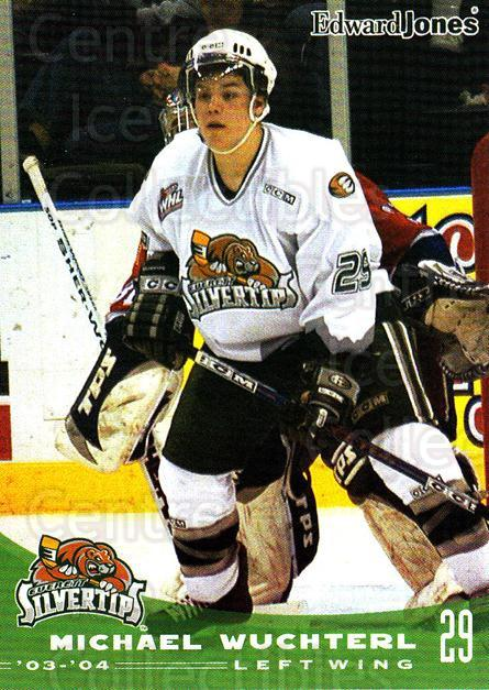 2003-04 Everett Silvertips #27 Mike Wuchterl<br/>4 In Stock - $3.00 each - <a href=https://centericecollectibles.foxycart.com/cart?name=2003-04%20Everett%20Silvertips%20%2327%20Mike%20Wuchterl...&price=$3.00&code=112857 class=foxycart> Buy it now! </a>