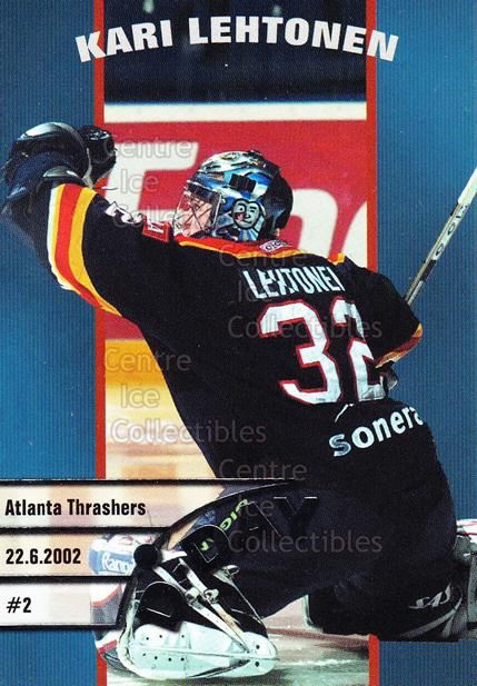 2003-04 Finnish Cardset D-Day #4 Kari Lehtonen<br/>6 In Stock - $3.00 each - <a href=https://centericecollectibles.foxycart.com/cart?name=2003-04%20Finnish%20Cardset%20D-Day%20%234%20Kari%20Lehtonen...&price=$3.00&code=112866 class=foxycart> Buy it now! </a>