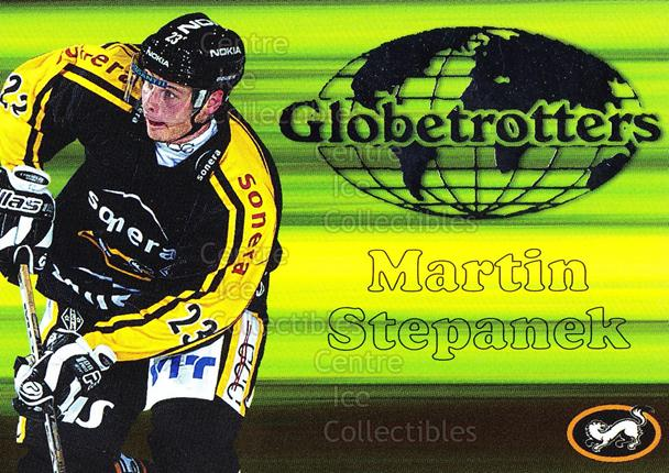 2003-04 Finnish Cardset Globetrotters #6 Martin Stepanek<br/>3 In Stock - $3.00 each - <a href=https://centericecollectibles.foxycart.com/cart?name=2003-04%20Finnish%20Cardset%20Globetrotters%20%236%20Martin%20Stepanek...&quantity_max=3&price=$3.00&code=112873 class=foxycart> Buy it now! </a>