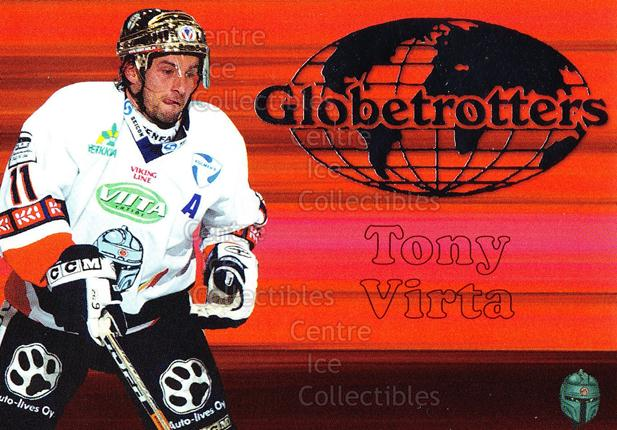 2003-04 Finnish Cardset Globetrotters #8 Tony Virta<br/>4 In Stock - $3.00 each - <a href=https://centericecollectibles.foxycart.com/cart?name=2003-04%20Finnish%20Cardset%20Globetrotters%20%238%20Tony%20Virta...&quantity_max=4&price=$3.00&code=112875 class=foxycart> Buy it now! </a>