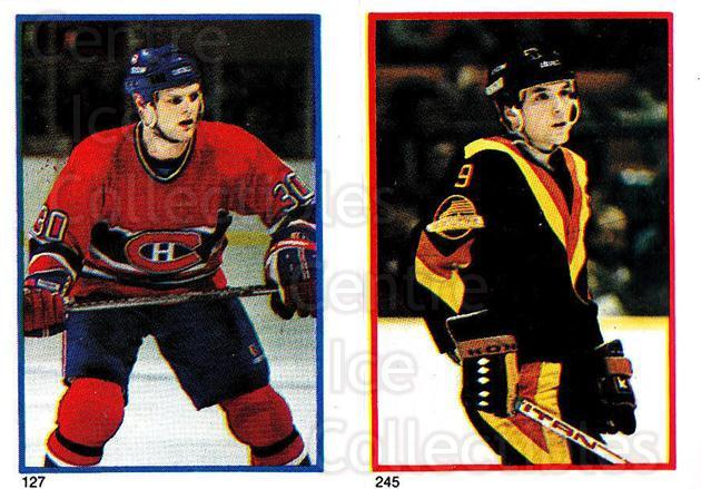 1985-86 O-Pee-Chee Stickers #127-245 Chris Nilan, Tony Tanti<br/>8 In Stock - $2.00 each - <a href=https://centericecollectibles.foxycart.com/cart?name=1985-86%20O-Pee-Chee%20Stickers%20%23127-245%20Chris%20Nilan,%20To...&quantity_max=8&price=$2.00&code=112 class=foxycart> Buy it now! </a>
