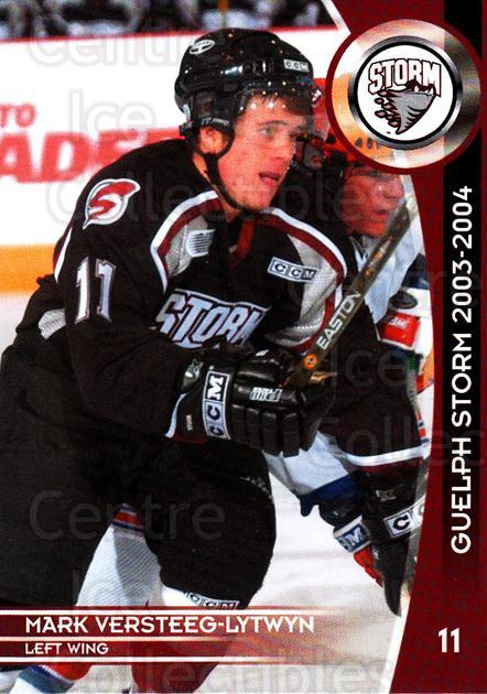 2003-04 Guelph Storm #9 Mark Versteeg-Lytwyn<br/>4 In Stock - $3.00 each - <a href=https://centericecollectibles.foxycart.com/cart?name=2003-04%20Guelph%20Storm%20%239%20Mark%20Versteeg-L...&quantity_max=4&price=$3.00&code=113257 class=foxycart> Buy it now! </a>