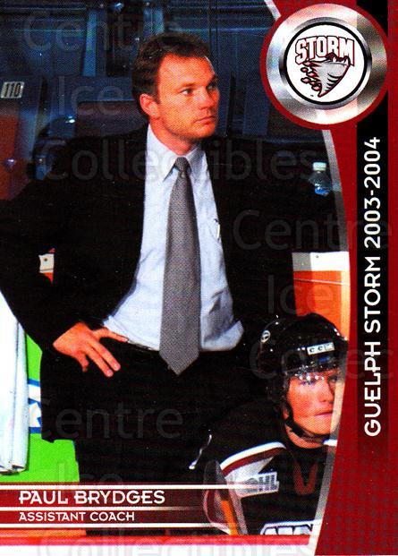 2003-04 Guelph Storm #25 Paul Brydges<br/>4 In Stock - $3.00 each - <a href=https://centericecollectibles.foxycart.com/cart?name=2003-04%20Guelph%20Storm%20%2325%20Paul%20Brydges...&quantity_max=4&price=$3.00&code=113269 class=foxycart> Buy it now! </a>