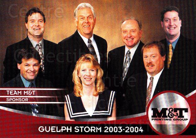 2003-04 Guelph Storm #27 Sponsor Card<br/>4 In Stock - $3.00 each - <a href=https://centericecollectibles.foxycart.com/cart?name=2003-04%20Guelph%20Storm%20%2327%20Sponsor%20Card...&quantity_max=4&price=$3.00&code=113271 class=foxycart> Buy it now! </a>