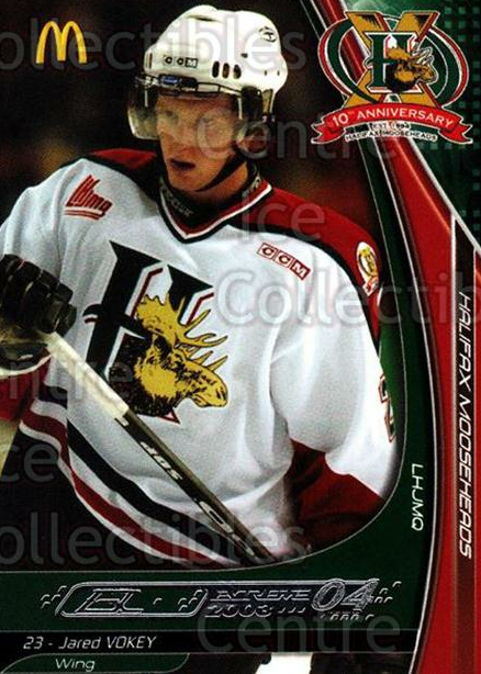 2003-04 Halifax Mooseheads #23 Jared Vokey<br/>6 In Stock - $3.00 each - <a href=https://centericecollectibles.foxycart.com/cart?name=2003-04%20Halifax%20Mooseheads%20%2323%20Jared%20Vokey...&quantity_max=6&price=$3.00&code=113279 class=foxycart> Buy it now! </a>