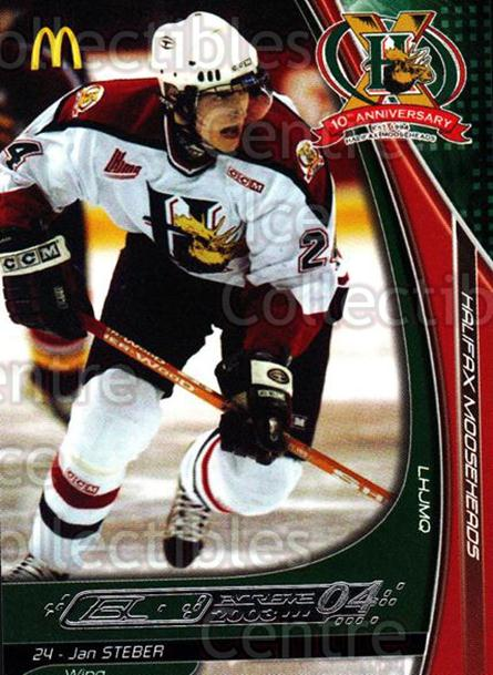 2003-04 Halifax Mooseheads #21 Jan Steber<br/>6 In Stock - $3.00 each - <a href=https://centericecollectibles.foxycart.com/cart?name=2003-04%20Halifax%20Mooseheads%20%2321%20Jan%20Steber...&quantity_max=6&price=$3.00&code=113280 class=foxycart> Buy it now! </a>