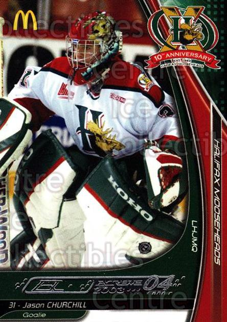 2003-04 Halifax Mooseheads #5 Jason Churchill<br/>1 In Stock - $3.00 each - <a href=https://centericecollectibles.foxycart.com/cart?name=2003-04%20Halifax%20Mooseheads%20%235%20Jason%20Churchill...&quantity_max=1&price=$3.00&code=113282 class=foxycart> Buy it now! </a>