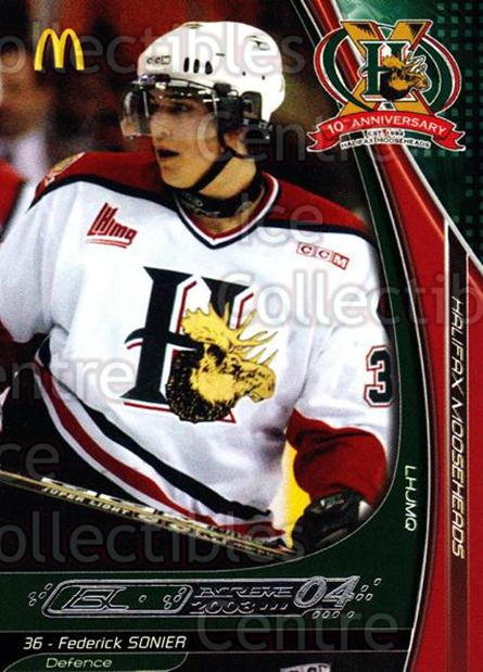 2003-04 Halifax Mooseheads #19 Federick Sonier<br/>6 In Stock - $3.00 each - <a href=https://centericecollectibles.foxycart.com/cart?name=2003-04%20Halifax%20Mooseheads%20%2319%20Federick%20Sonier...&quantity_max=6&price=$3.00&code=113286 class=foxycart> Buy it now! </a>