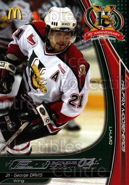2003-04 Halifax Mooseheads #7 George Davis<br/>5 In Stock - $3.00 each - <a href=https://centericecollectibles.foxycart.com/cart?name=2003-04%20Halifax%20Mooseheads%20%237%20George%20Davis...&quantity_max=5&price=$3.00&code=113297 class=foxycart> Buy it now! </a>