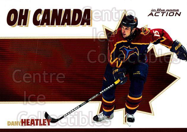 2003-04 ITG Action Oh Canada #10 Dany Heatley<br/>4 In Stock - $3.00 each - <a href=https://centericecollectibles.foxycart.com/cart?name=2003-04%20ITG%20Action%20Oh%20Canada%20%2310%20Dany%20Heatley...&quantity_max=4&price=$3.00&code=113352 class=foxycart> Buy it now! </a>