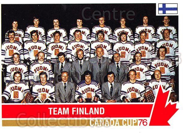 1992 Future Trends Canada Cup 1976 #118 Team Finland, Team Photo<br/>19 In Stock - $1.00 each - <a href=https://centericecollectibles.foxycart.com/cart?name=1992%20Future%20Trends%20Canada%20Cup%201976%20%23118%20Team%20Finland,%20T...&price=$1.00&code=11347 class=foxycart> Buy it now! </a>