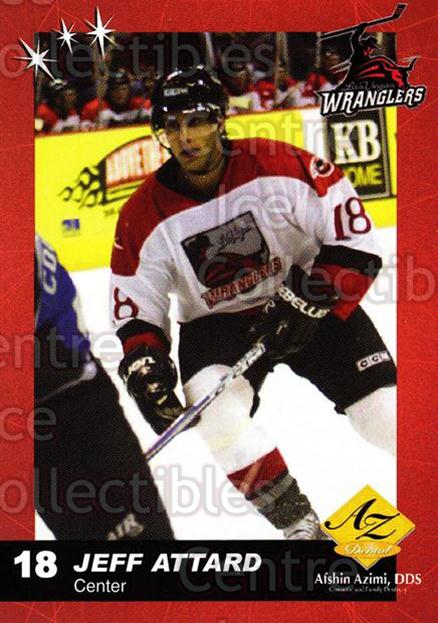 2003-04 Las Vegas Wranglers #1 Jeff Attard<br/>7 In Stock - $3.00 each - <a href=https://centericecollectibles.foxycart.com/cart?name=2003-04%20Las%20Vegas%20Wranglers%20%231%20Jeff%20Attard...&quantity_max=7&price=$3.00&code=113572 class=foxycart> Buy it now! </a>