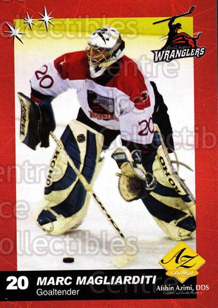 2003-04 Las Vegas Wranglers #11 Marc Magliarditi<br/>6 In Stock - $3.00 each - <a href=https://centericecollectibles.foxycart.com/cart?name=2003-04%20Las%20Vegas%20Wranglers%20%2311%20Marc%20Magliardit...&quantity_max=6&price=$3.00&code=113574 class=foxycart> Buy it now! </a>