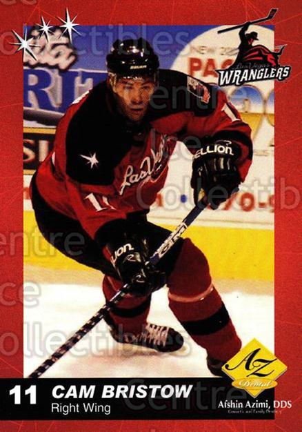 2003-04 Las Vegas Wranglers #3 Cam Bristow<br/>5 In Stock - $3.00 each - <a href=https://centericecollectibles.foxycart.com/cart?name=2003-04%20Las%20Vegas%20Wranglers%20%233%20Cam%20Bristow...&quantity_max=5&price=$3.00&code=113588 class=foxycart> Buy it now! </a>