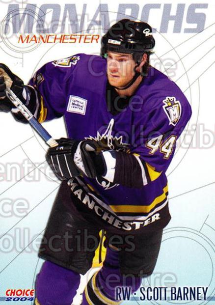 2003-04 Manchester Monarchs Choice #1 Scott Barney<br/>12 In Stock - $3.00 each - <a href=https://centericecollectibles.foxycart.com/cart?name=2003-04%20Manchester%20Monarchs%20Choice%20%231%20Scott%20Barney...&quantity_max=12&price=$3.00&code=113641 class=foxycart> Buy it now! </a>
