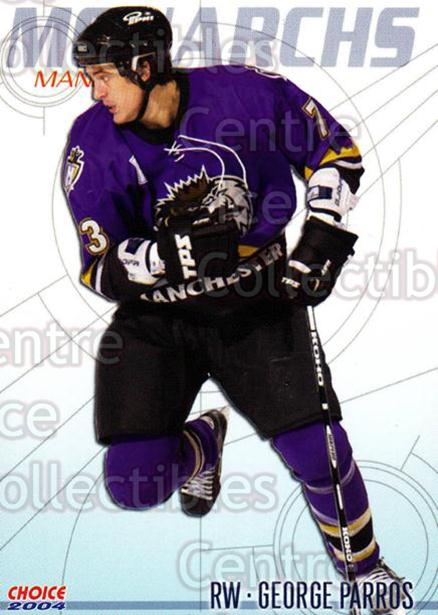 2003-04 Manchester Monarchs Choice #12 George Parros<br/>4 In Stock - $3.00 each - <a href=https://centericecollectibles.foxycart.com/cart?name=2003-04%20Manchester%20Monarchs%20Choice%20%2312%20George%20Parros...&quantity_max=4&price=$3.00&code=113643 class=foxycart> Buy it now! </a>