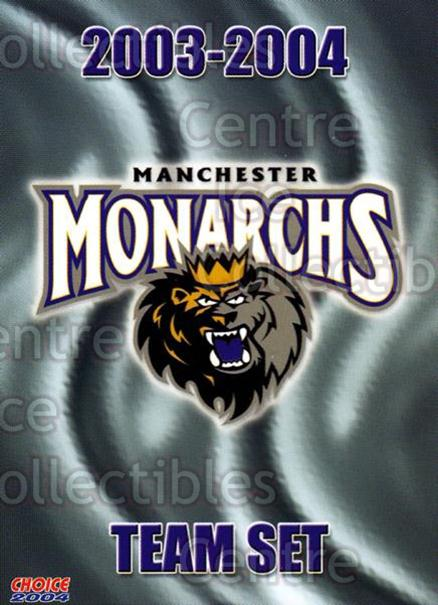 2003-04 Manchester Monarchs Choice #25 Checklist<br/>12 In Stock - $3.00 each - <a href=https://centericecollectibles.foxycart.com/cart?name=2003-04%20Manchester%20Monarchs%20Choice%20%2325%20Checklist...&quantity_max=12&price=$3.00&code=113654 class=foxycart> Buy it now! </a>