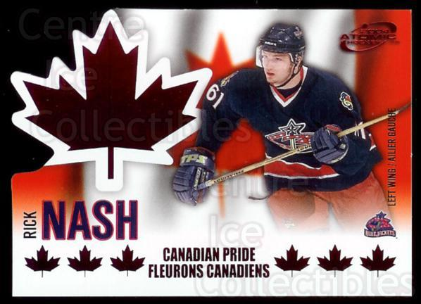 2003-04 McDonalds Pacific Canadian Pride #3 Rick Nash<br/>3 In Stock - $3.00 each - <a href=https://centericecollectibles.foxycart.com/cart?name=2003-04%20McDonalds%20Pacific%20Canadian%20Pride%20%233%20Rick%20Nash...&quantity_max=3&price=$3.00&code=113676 class=foxycart> Buy it now! </a>
