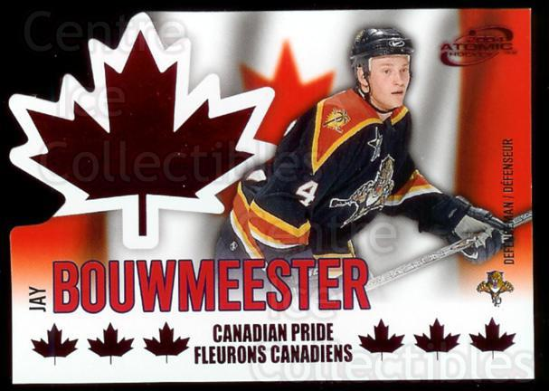 2003-04 McDonalds Pacific Canadian Pride #4 Jay Bouwmeester<br/>2 In Stock - $3.00 each - <a href=https://centericecollectibles.foxycart.com/cart?name=2003-04%20McDonalds%20Pacific%20Canadian%20Pride%20%234%20Jay%20Bouwmeester...&quantity_max=2&price=$3.00&code=113677 class=foxycart> Buy it now! </a>