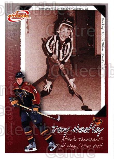 2003-04 McDonalds Pacific Hockey Roots Checklists #1 Dany Heatley<br/>6 In Stock - $1.00 each - <a href=https://centericecollectibles.foxycart.com/cart?name=2003-04%20McDonalds%20Pacific%20Hockey%20Roots%20Checklists%20%231%20Dany%20Heatley...&quantity_max=6&price=$1.00&code=113682 class=foxycart> Buy it now! </a>