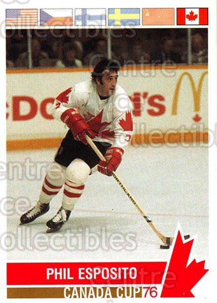 1992 Future Trends Canada Cup 1976 #153 Phil Esposito<br/>13 In Stock - $2.00 each - <a href=https://centericecollectibles.foxycart.com/cart?name=1992%20Future%20Trends%20Canada%20Cup%201976%20%23153%20Phil%20Esposito...&quantity_max=13&price=$2.00&code=11378 class=foxycart> Buy it now! </a>