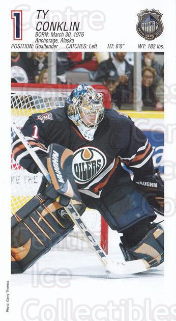 2003-04 Edmonton Oilers Postcards #4 Ty Conklin<br/>1 In Stock - $3.00 each - <a href=https://centericecollectibles.foxycart.com/cart?name=2003-04%20Edmonton%20Oilers%20Postcards%20%234%20Ty%20Conklin...&quantity_max=1&price=$3.00&code=113949 class=foxycart> Buy it now! </a>