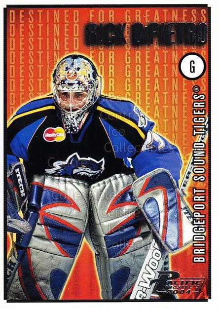 2003-04 Pacific AHL Prospects Destined for Greatness #3 Rick DiPietro<br/>4 In Stock - $2.00 each - <a href=https://centericecollectibles.foxycart.com/cart?name=2003-04%20Pacific%20AHL%20Prospects%20Destined%20for%20Greatness%20%233%20Rick%20DiPietro...&price=$2.00&code=114113 class=foxycart> Buy it now! </a>