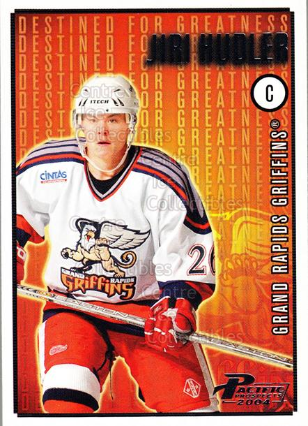 2003-04 Pacific AHL Prospects Destined for Greatness #6 Jiri Hudler<br/>4 In Stock - $2.00 each - <a href=https://centericecollectibles.foxycart.com/cart?name=2003-04%20Pacific%20AHL%20Prospects%20Destined%20for%20Greatness%20%236%20Jiri%20Hudler...&price=$2.00&code=114115 class=foxycart> Buy it now! </a>