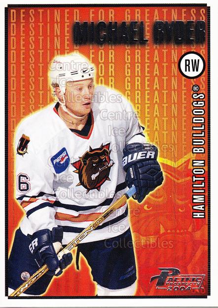 2003-04 Pacific AHL Prospects Destined for Greatness #7 Michael Ryder<br/>4 In Stock - $2.00 each - <a href=https://centericecollectibles.foxycart.com/cart?name=2003-04%20Pacific%20AHL%20Prospects%20Destined%20for%20Greatness%20%237%20Michael%20Ryder...&quantity_max=4&price=$2.00&code=114116 class=foxycart> Buy it now! </a>