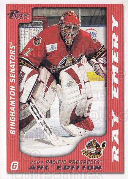2003-04 Pacific AHL Prospects #5 Ray Emery<br/>9 In Stock - $1.00 each - <a href=https://centericecollectibles.foxycart.com/cart?name=2003-04%20Pacific%20AHL%20Prospects%20%235%20Ray%20Emery...&quantity_max=9&price=$1.00&code=114226 class=foxycart> Buy it now! </a>