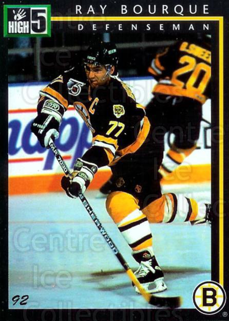 1992 High Five Previews Promos Samples #1 Ray Bourque<br/>3 In Stock - $3.00 each - <a href=https://centericecollectibles.foxycart.com/cart?name=1992%20High%20Five%20Previews%20Promos%20Samples%20%231%20Ray%20Bourque...&quantity_max=3&price=$3.00&code=11423 class=foxycart> Buy it now! </a>
