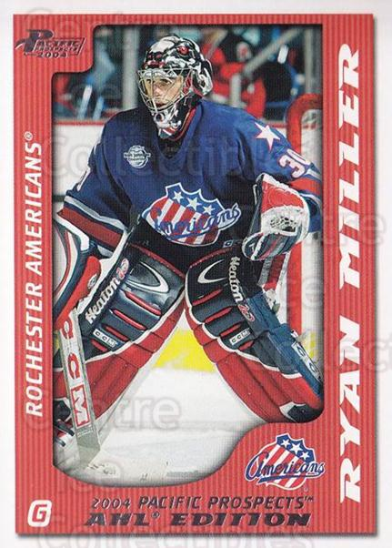 2003-04 Pacific AHL Prospects #70 Ryan Miller<br/>7 In Stock - $2.00 each - <a href=https://centericecollectibles.foxycart.com/cart?name=2003-04%20Pacific%20AHL%20Prospects%20%2370%20Ryan%20Miller...&quantity_max=7&price=$2.00&code=114247 class=foxycart> Buy it now! </a>